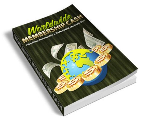 Pay for Worldwide Membership Cash PLR Ebook