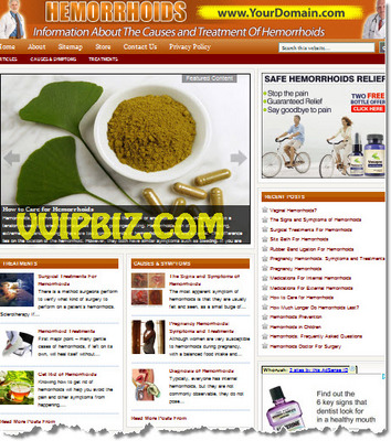 Pay for Hemorrhoids Website PLR - WordPress Health Niche Blogs