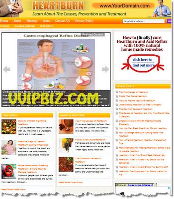 Pay for Heartburn Website PLR - WordPress Health Niche Blogs