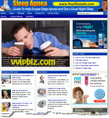 Sleep Apnea Website Plr Sleep Disorders Blog Tradebit