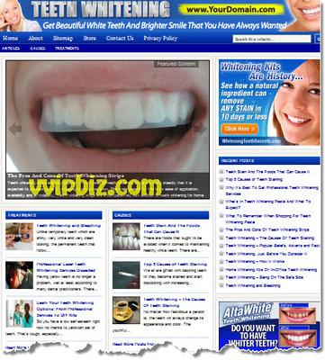 Pay for Teeth Whitening Website PLR - Turnkey WordPress Blogs