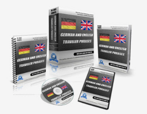 Pay for German / English Traveler Phrases PLR Audio, Video Course