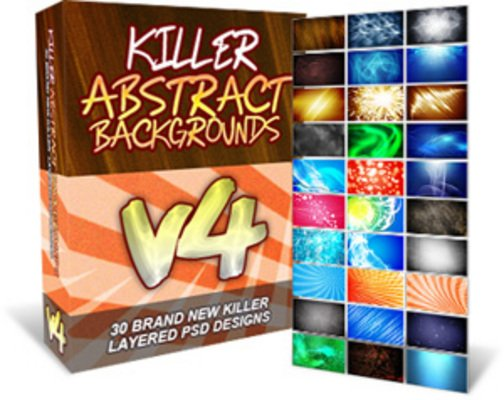 Pay for Killer Abstract Backgrounds V4 - 30 Layered PSD Designs