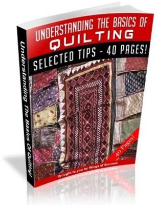 Pay for Understanding The Basics Of Quilting MRR with Giveaway Right
