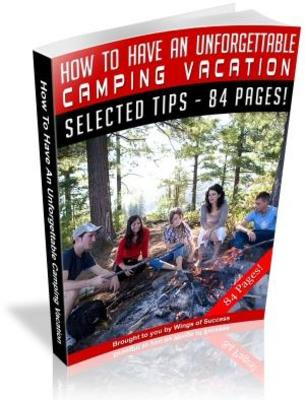 Pay for How To Have An Unforgettable Camping Vacation MRR Ebook