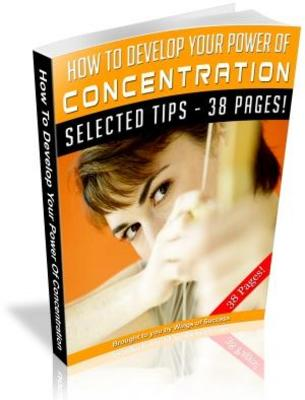 Pay for How To Develop Your Power Of Concentration MRR Ebook