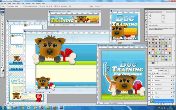 Dog Training Niche Website Template - PSD Included