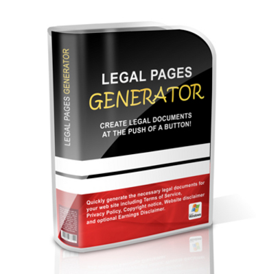 Pay for Legal Pages Generator MRR Software / Giveaway Rights