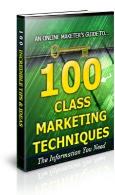 Pay for 100 Class Marketing Techniques Unrestricted PLR Ebook