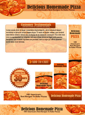 Pay For Homemade Pizza Recipes Website Template Plr Pack