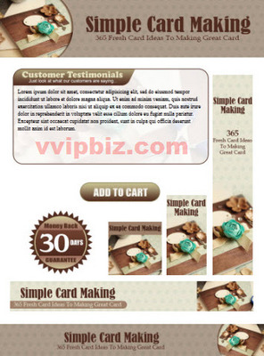 Pay for Card Making Website Template Plr Pack