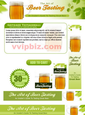 Pay for Beer Tasting Website Template Plr Pack