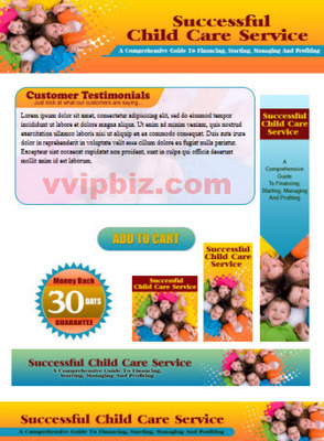 Pay for Child Care Service Website Template Plr Pack