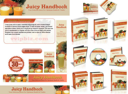 Pay For Fruit Juice Recipes Website Template Plr Pack