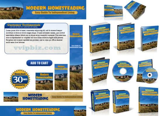Pay for Modern Homesteading Website Template Plr Pack