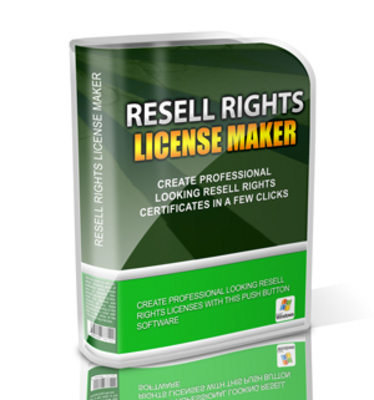 Pay for Resell Rights License Maker MRR Software / Giveaway Rights