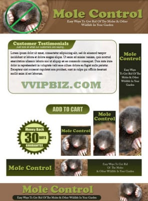 Pay for Mole Control Website Template Plr Pack