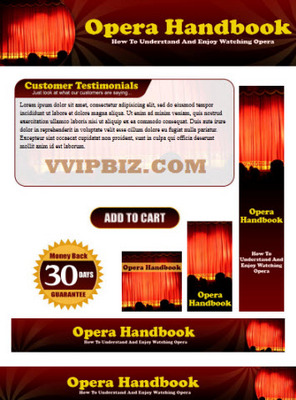 Pay for Opera Website Template Plr Pack - Classical Music