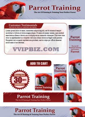 Pay for Parrot Training - Parrots Website Template Plr Pack