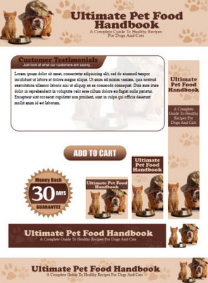 Pay for Healthy Pet Food for Cats & Dogs Website Template Plr Pack