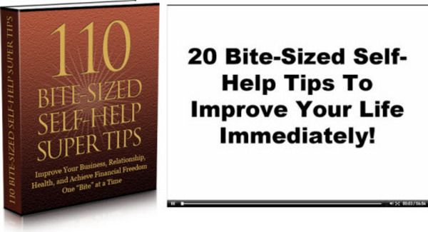 Pay for 110 Bite Sized Self Help Super Tips MRR/ Giveaway Rights
