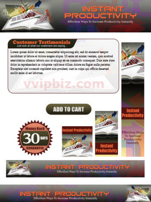 Pay for Instant Productivity Website Template Plr Pack
