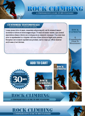 Pay for Rock Climbing Website Template Plr Pack