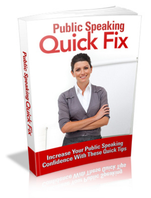 Pay for Public Speaking Quick Fix MRR/ Giveaway Rights