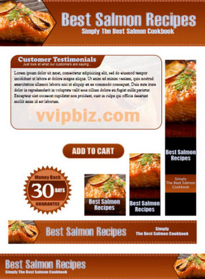 Pay for Salmon Recipes Website Template Plr Pack