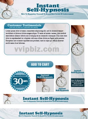Self Hypnosis Website Template Plr Pack