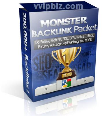 Pay for Monster Backlink Packet 200,000+ Resale Backlink Package