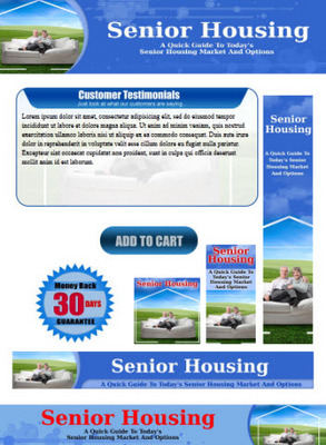 Pay for Senior Housing Website Template Plr Pack