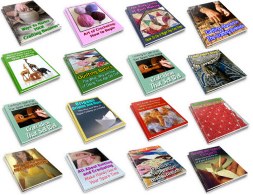 Pay for 15 Arts & Crafts - Handicrafts PLR Reports Package