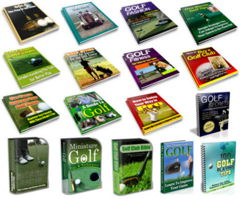 Pay for Golf, Golfing PLR Reports Package with Special Bonus