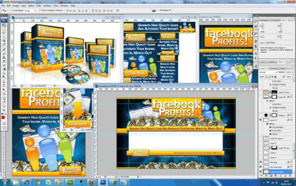 Pay for Facebook Profits PSD Templates - Quality Unflattened PSDs Pack
