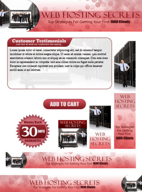 Pay for Web Hosting Website Template Plr Pack