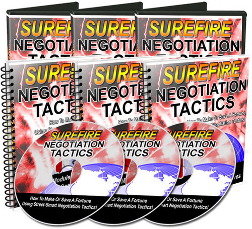 Pay for Surefire Negotiation Tactics Videos and Audios - MRR