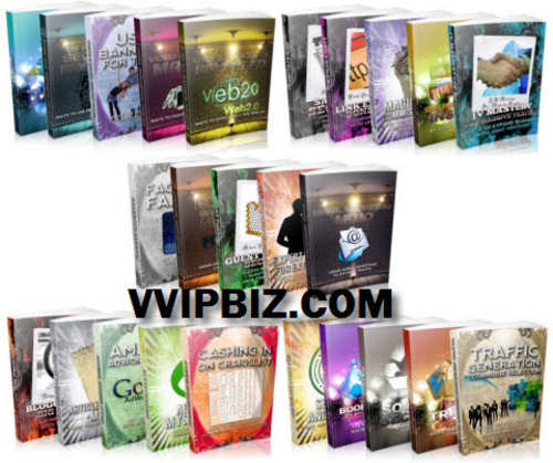 Pay for Traffic Generation Blowout Collection MRR /Giveaway Rights - 25 eBooks