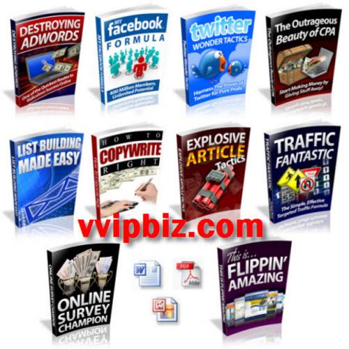 Pay for Internet Marketing/ Traffic Generation PLR eBooks Package
