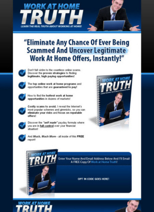 Pay for Work at Home Truth (PLR)