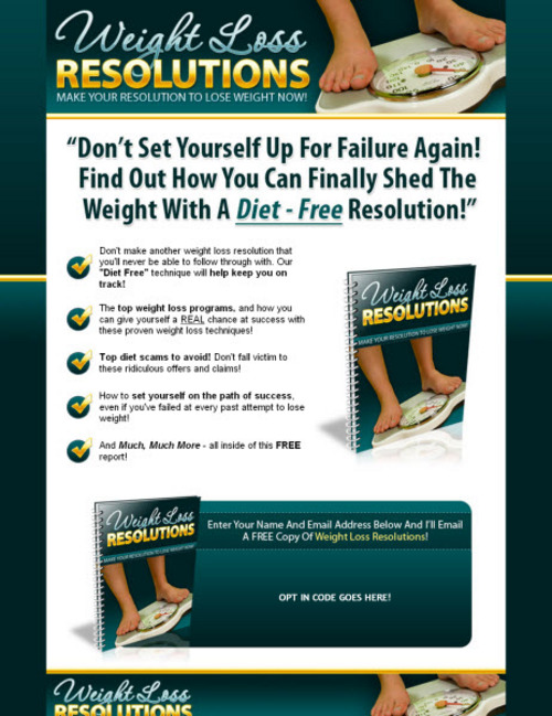 Pay for Weight Loss Resolutions (PLR)