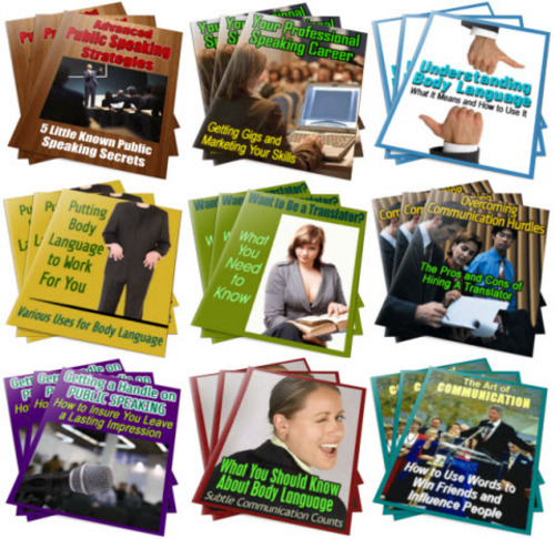 Pay for Body Language, Public Speaking PLR Reports Package