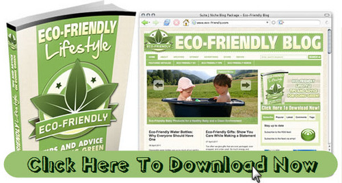 Pay for Eco Friendly: Green Living Niche Blog With Matching PLR Ebook