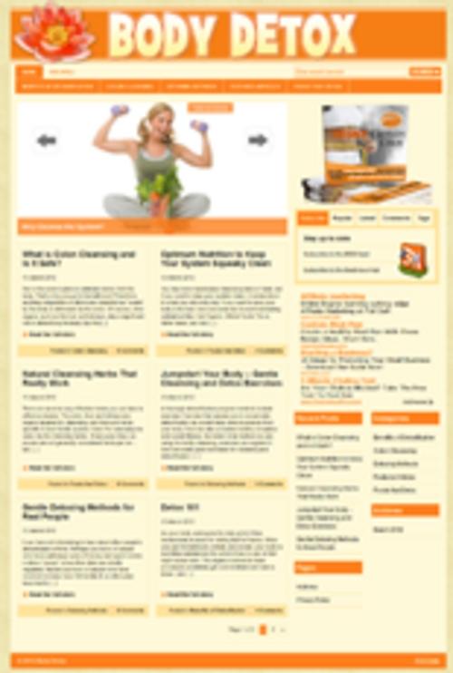 Pay for Body Detox Niche Wordpress Blog