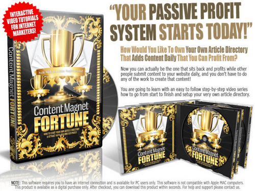 Pay for Content Magnet Fortune Video Course with MRR