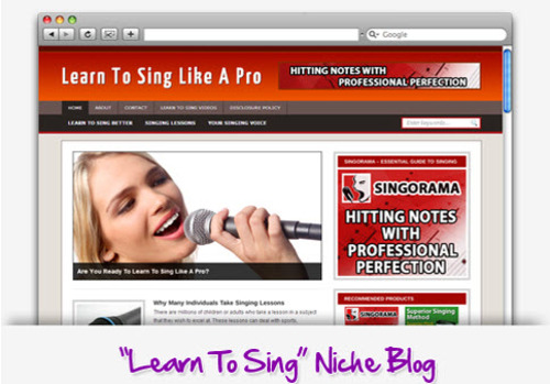 Pay for Learn To Sing Niche Blog