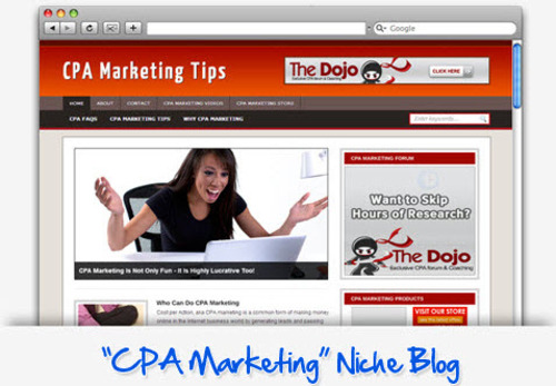 Pay for CPA Marketing Tips Niche Blog