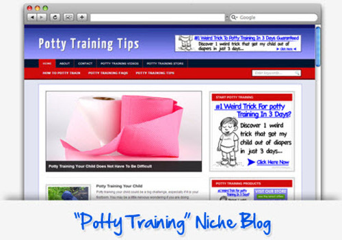 Pay for Potty Training Niche Blog