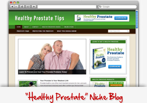 Pay for Healthy Prostate Niche Blog