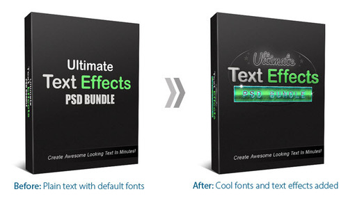Pay for Ultimate Text Effects PSD Bundle